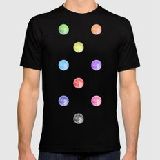 Once in a blue moon MEDIUM Black Mens Fitted Tee