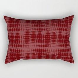 Red Tech-ture Pattern Rectangular Pillow