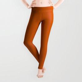 Burnt Orange #CC5500 Leggings