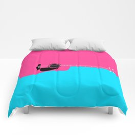 Pink Acoustic Guitar Background Comforters