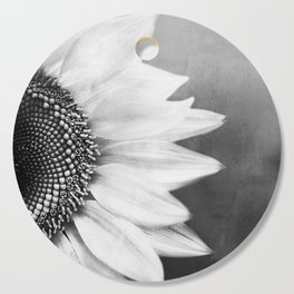 B&W Sunflower Cutting Board