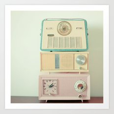 Radio Stations Art Print