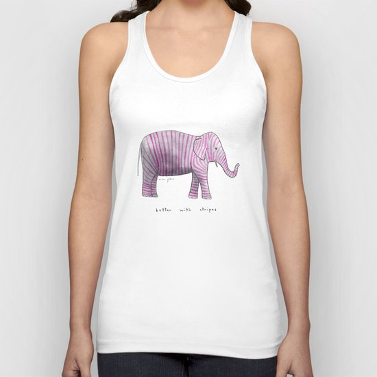 better with stripes Unisex Tank Top