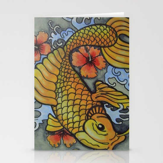 koi fish 02 Stationery Cards