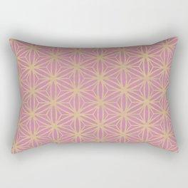 Pink Geometric Pattern Rectangular Pillow