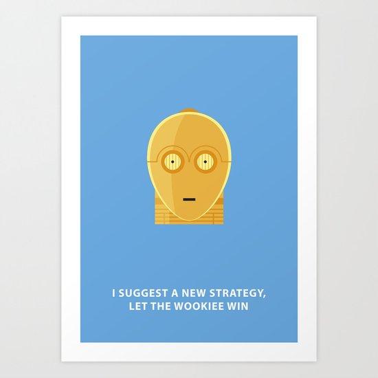 Star Wars Minimalism - C3PO Art Print