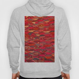V35 Red Traditional Moroccan Artwork Pattern Hoody