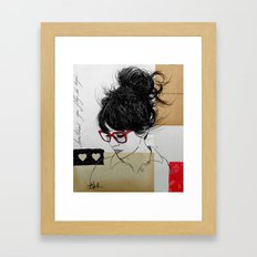 sometimes you fly Framed Art Print