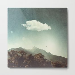 Mountain Sunrise in Backlight Metal Print