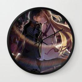 kirito's and asuna's kiss Wall Clock