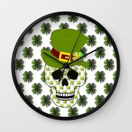 St Paddys Skull - St Patrick's Day Wall Clock