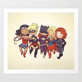 Super BFFs Art Print