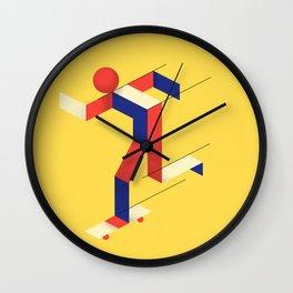 Skater figure Wall Clock