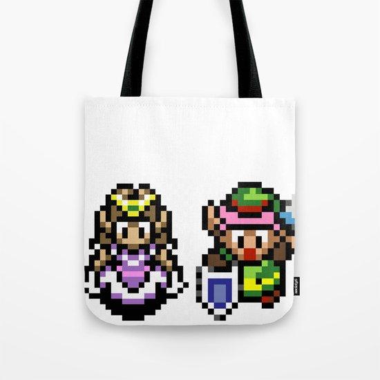 Zelda and Link Tote Bag