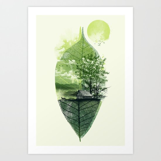 Live in Nature Art Print