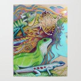 A Tangle Of Lizards, Lizard Art Poster