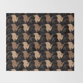 Native American Buffalo Running Throw Blanket