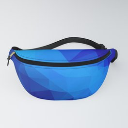 Abstract digital art polygon triangles Fanny Pack