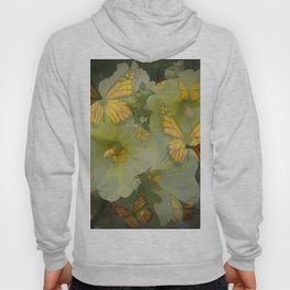 DECORATIVE MONARCH BUTTERFLY FLORAL DREAMS Hoody
