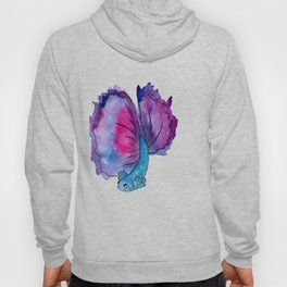 purple fish Hoody