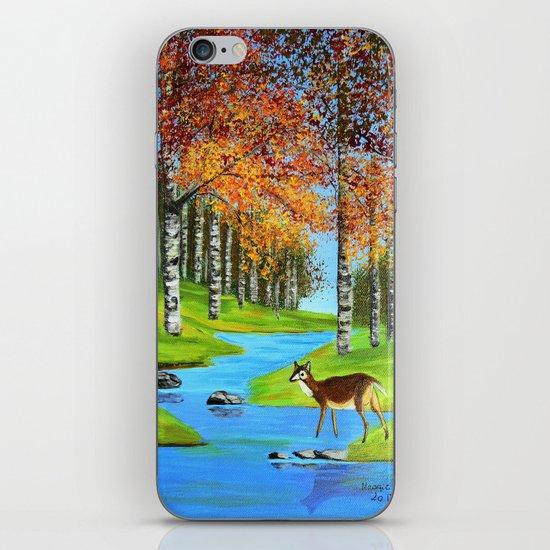 Birch trees in the fall  iPhone & iPod Skin