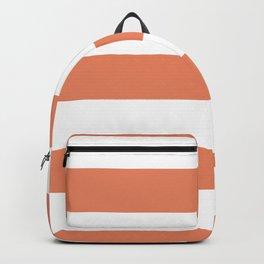 Fringe Orange, Orange Slice, Fiery Sky, Heirloom Tomato Orange Hand Drawn Fat Horizontal Lines Backpack