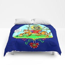 Durga Hindu Goddess Comforters