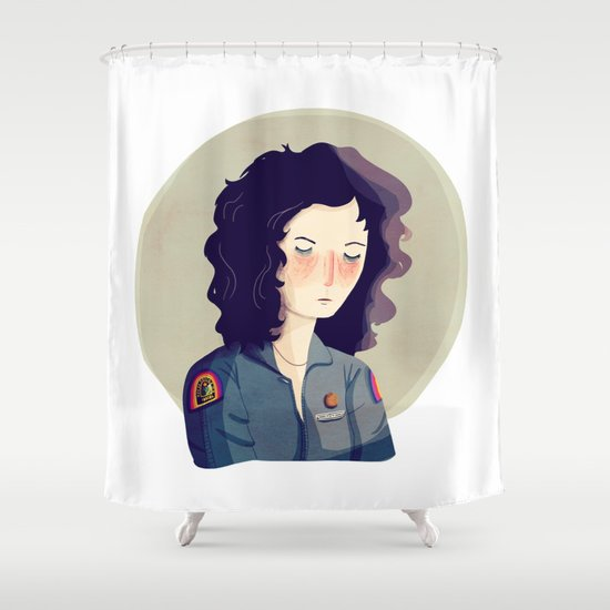 Last Survivor of the Notsromo Shower Curtain