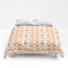 Watercolour Pumpkin Turkey Pattern Happy Thanksgiving Comforters