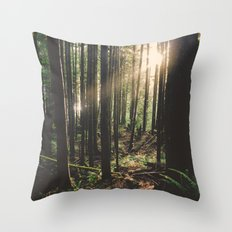 Sun in the Rainforest Throw Pillow