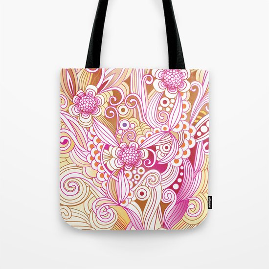 Flower fire Tote Bag