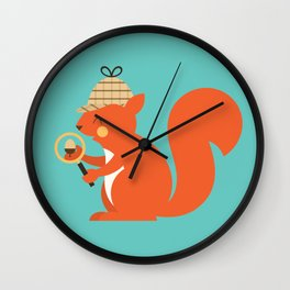 Animal Alphabet - Squirrel Wall Clock