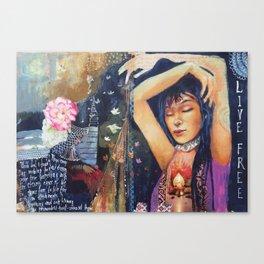 Living Free Canvas Print