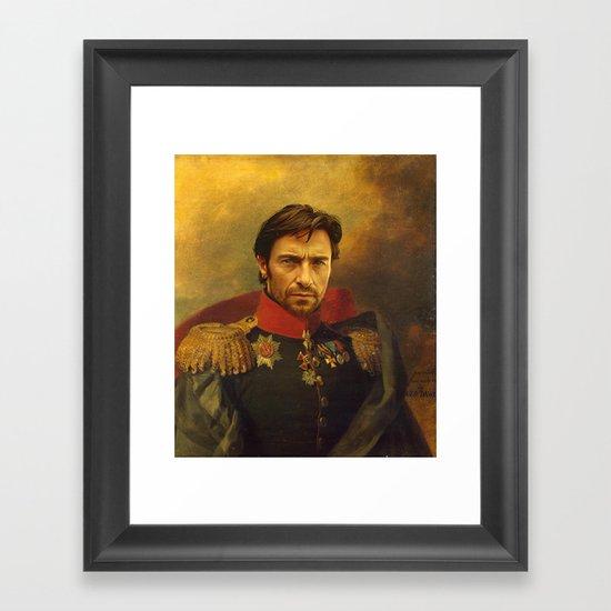 Hugh Jackman - replaceface Framed Art Print