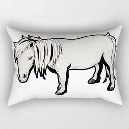 Shetland pony Horse Riding Rectangular Pillow