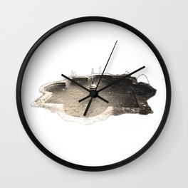 Alcazaba Fountain Wall Clock