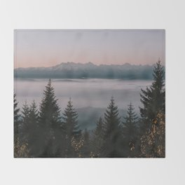 Faraway Mountains - Landscape and Nature Photography Throw Blanket
