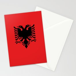 Albanian Flag Stationery Cards
