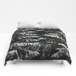 Melting of the snow in forest. Comforters
