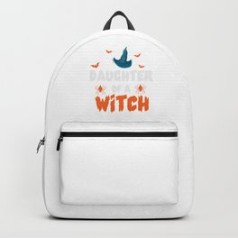 Daughter Of A Witch Mom Mother Halloween Bat Gift Backpack