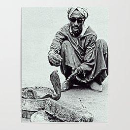 Snake Charmer in Morocco Poster