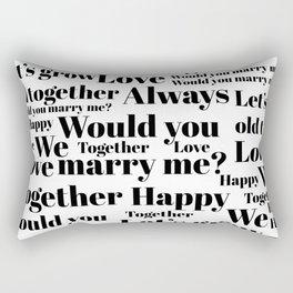 Marry me Rectangular Pillow