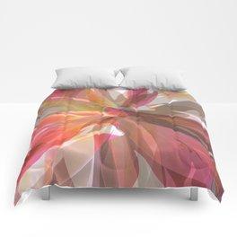 Coral Spiral Geometric Petals Comforters