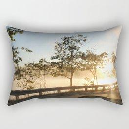 Sunrise over the lake Rectangular Pillow