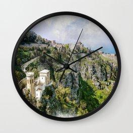 Erice art 2 Wall Clock
