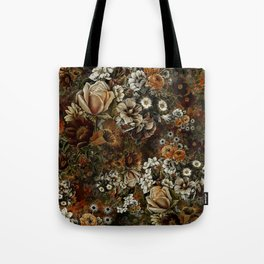 Night Garden Gold Tote Bag