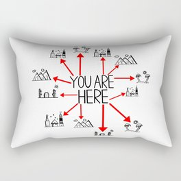 You Are Here (Centered) Rectangular Pillow