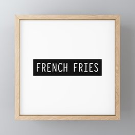 French Fries Old Typewriter Letters Framed Mini Art Print