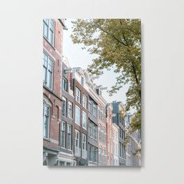 Summer in the city Amsterdam    Digital photo cityscape landscape Europe color streetview architecture    Travel photography art print Metal Print