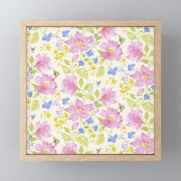 Garden Dream Pattern Framed Mini Art Print